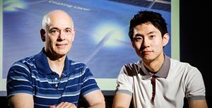 Professor Joseph Lyding (left) and graduate student Jae Won Do (right)