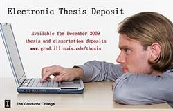 The Graduate College advertised the ETD system as a new option for students for the Fall 2009 semester.
