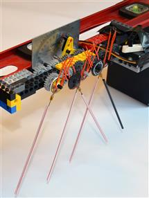 A prototype of the robotic whiskers.