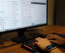 Hackers could access data produced by motion sensors on a smartwatch and use it to guess what a user is typing.