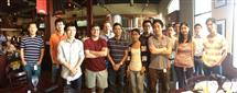 Wang (8th from the left) at an Adobe summer outing