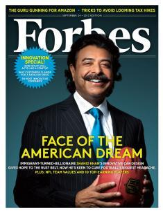 Khan featured on cover of Forbes magazine