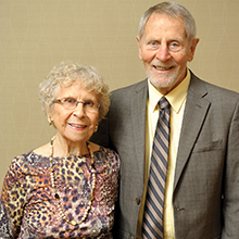 Ted Brown, Professor Emeritus, Chemistry, Audrey Brown, BA '89, Religious Studies (Photo by Lou McClellan)