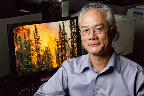 Illinois professor Feng Sheng Hu led a study of carbon cycling and forest fires in the boreal forests of the Yukon Flats in Alaska. (photo by L. Brian Stauffer)