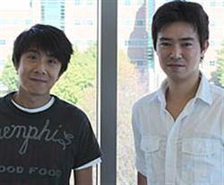 ECE grad students Chien-Yao Lu (left) and Akira Matsudaira each received best poster awards at the International Nano-Optoelectronic Workshop.