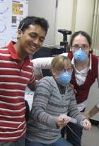 Bioengineering senior design team Heather August, Michelle Hattan, and Pratik Randeria.