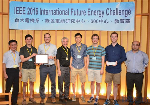 The ECE ILLINOIS team being presented its Best Innovation Award at the 2016 IFEC in Taiwan.