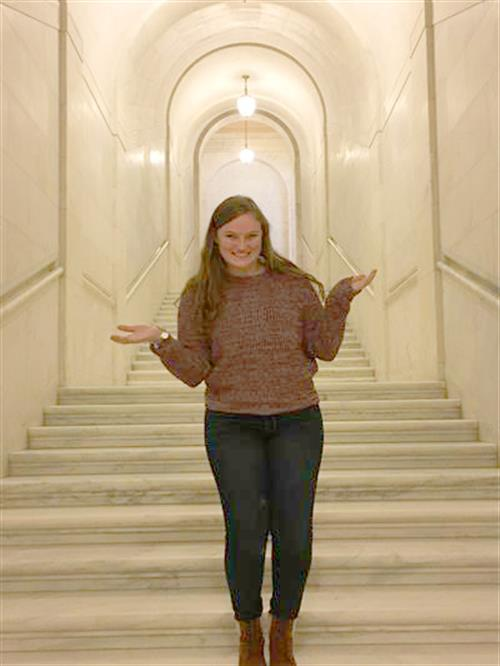 One of Annie's passions is traveling. Recently, she visited the Supreme Court of the United States.