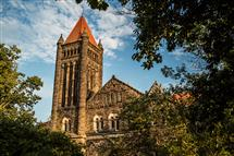 Altgeld Hall is located at the heart of the Illinois campus, near the intersection of Wright and Green Streets.