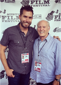 "Ryan Suffern, left, and Frank Marshall, at a screening of ""Finding Oscar"" at the Austin Film Festival."