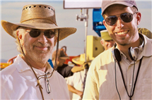 "Ryan Suffern, right, with Steven Spielberg on the set of ""Indiana Jones and the Kingdom of the Crystal Skull."""