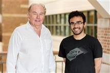 Professor Jean-Pierre Leburton and graduate student Aditya Sarathy used advanced computer simulations to map DNA methylation. Photo by L. Brian Stauffer