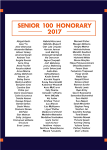 The full list of Senior 100 Honorary recipients (click for a larger image.)