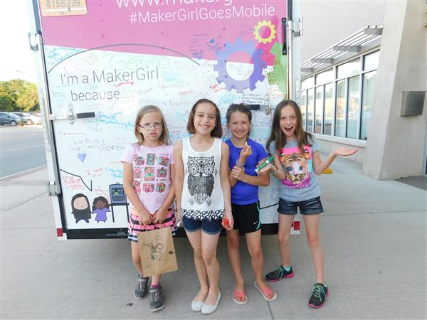 Participants at one of last year's MakerGirl road trip events.