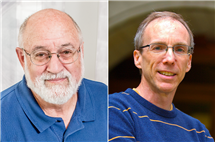 John Cronan, left, and Jeffrey Moore have been elected to the National Academy of Sciences.
