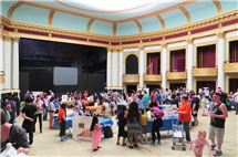 More than 430 participants attended this year's Brain Awareness Day at the Orpheum Children's Museum in Champaign. (Photo by Ashley Lawrence, IHSI at Illinois.)