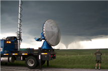 The Center for Severe Weather Research's Doppler on Wheels mobile radar will play an important role in an Illinois-led study of thunderstorms in Argentina. (Herb Stein/CSWR.)
