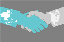 East Asians and Westerners view handshakes differently, new research finds. (Graphic by Julie McMahon.)