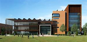 An architect's rendering of the new ECE building. The building is scheduled to be completed in spring 2014.