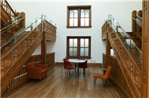 The restoration efforts included salvaging original trim, doors, ceilings, flooring, and other woodwork.