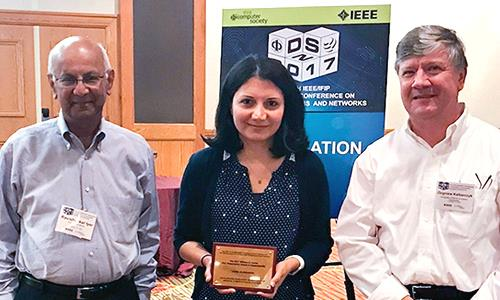 Homa Alemzadeh and her co-advisers Ravi Iyer and Zbigniew Kalbarczyk