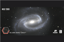 The Dark Energy Survey camera detected the NFC galaxy 65 million light years away from Earth. It is slightly larger than the Milky Way. (Image courtesy of Dark Energy Survey.)
