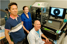 The Engineer Research and Development Center-Construction Engineering Research Lab team, from left, Sungmin Hong, Jessica Roman and Don Cropek. Not pictured: Kyoo Jo.