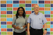 Daniella Kalume and her manager, Alexander Scheeline. (Image courtesy of U of I Research Park.)
