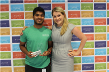 Roshen Samuel and his manager, Masha Trenhaile. (Image courtesy of U of I Research Park.)