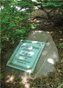 John Milton Gregory is buried on campus just south of Altgeld Hall.