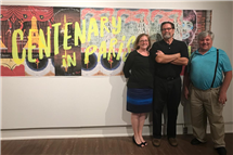 From left: Kate Pedrotty, Jeff Hendricks, and David Bieler, all College of LAS alumni, work together at Centenary College of Louisiana to help run a successful study abroad program in Paris. (Image courtesy of Centenary College of Louisiana.)