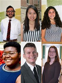 Clockwise from top left: Spenser Bailey, Wei Chen, Miranda Castora Gonzalez, Alexandra Trauth, Jasper Lown, and Mariah Symone Green.