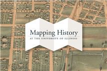 Several history students played a key role in the Mapping History project at Illinois, which provides an interactive history of campus. (Image courtesy of University Library.)