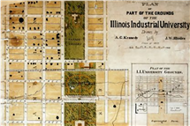 Maps in the Mapping History project date back to the earliest days of campus, and even before it was called the University of Illinois. (Image courtesy of University Library.)
