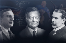"Featured in the documentary ""Illinois Icons"" are, from left: Max Abramovitz, who created spaces for the campus to come together; Robert Zuppke, who changed football and expressed himself through art; and Lorado Taft, who gave Illinois its most beloved symbol, the Alma Mater. 