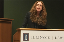 "Colleen Murphy leads a symposium in fall 2017 about her book, ""The Conceptual Foundations of Transitional Justice."" (Image courtesy of Colleen Murphy.)"