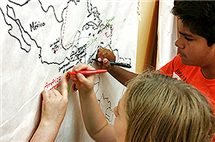 Teachers at the University Language Academy, which Silvina Montrul launched in 2010, promote the learning of a second language in childhood. (Photo courtesy of the University Language Academy.)