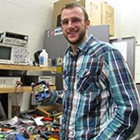 Daniel Klingler, graduate student in electrical engineering and founder of the Illinois chapter of AES.