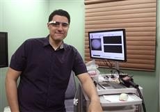 Guillermo Monroy wearing Google Glass