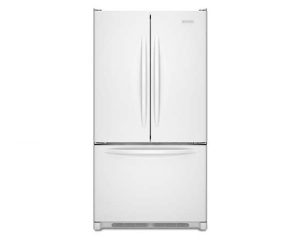 This ordinary refrigerator by KitchenAid is quite energy efficient.