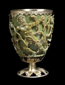 The Lycurgus Cup (Copyright Trustees of the British Museum)