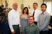 This is one of several projects receiving support from the College of Engineering SRI program. Project group members include (l to r) Lane Martin, Elif Ertekin, Ed Seebauer, Sungki Lee and Brent Apgar (seated).
