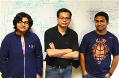 Sanorita Dey, Associate Professor Romit Roy Chourdhury, and Nirupam Roy.