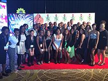 The NSBE Illinois chapter, after winning Best Small Chapter of the Year.
