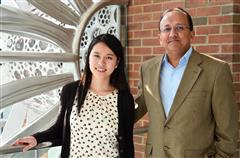 Yu Zhong with Professor Rashid Bashir.