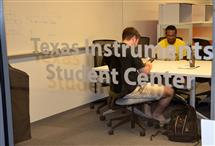 The Texas Instruments Student Center provides dedicated space for ECE ILLINOIS' student organizations just off the building's lobby.