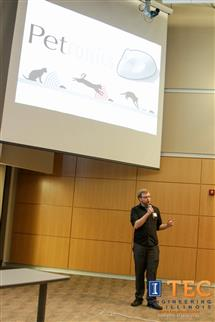 Dave Cohen pitching at the Cozad Elevator Pitch night in Feburary 2014, as a part of the Technology Entrepreneur Center's Cozad New Venture Competition.