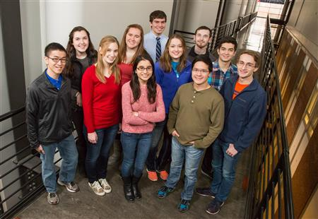 The first group of Cancer Scholars begin their research experience during the spring semester.