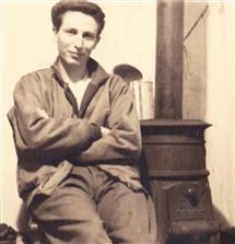 Floyd Dunn in Belgium around Thanksgiving 1944 during World War II.