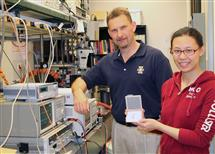 Associate professor John Dallesasse (left) and his graduate student Kanuo Chen (right)